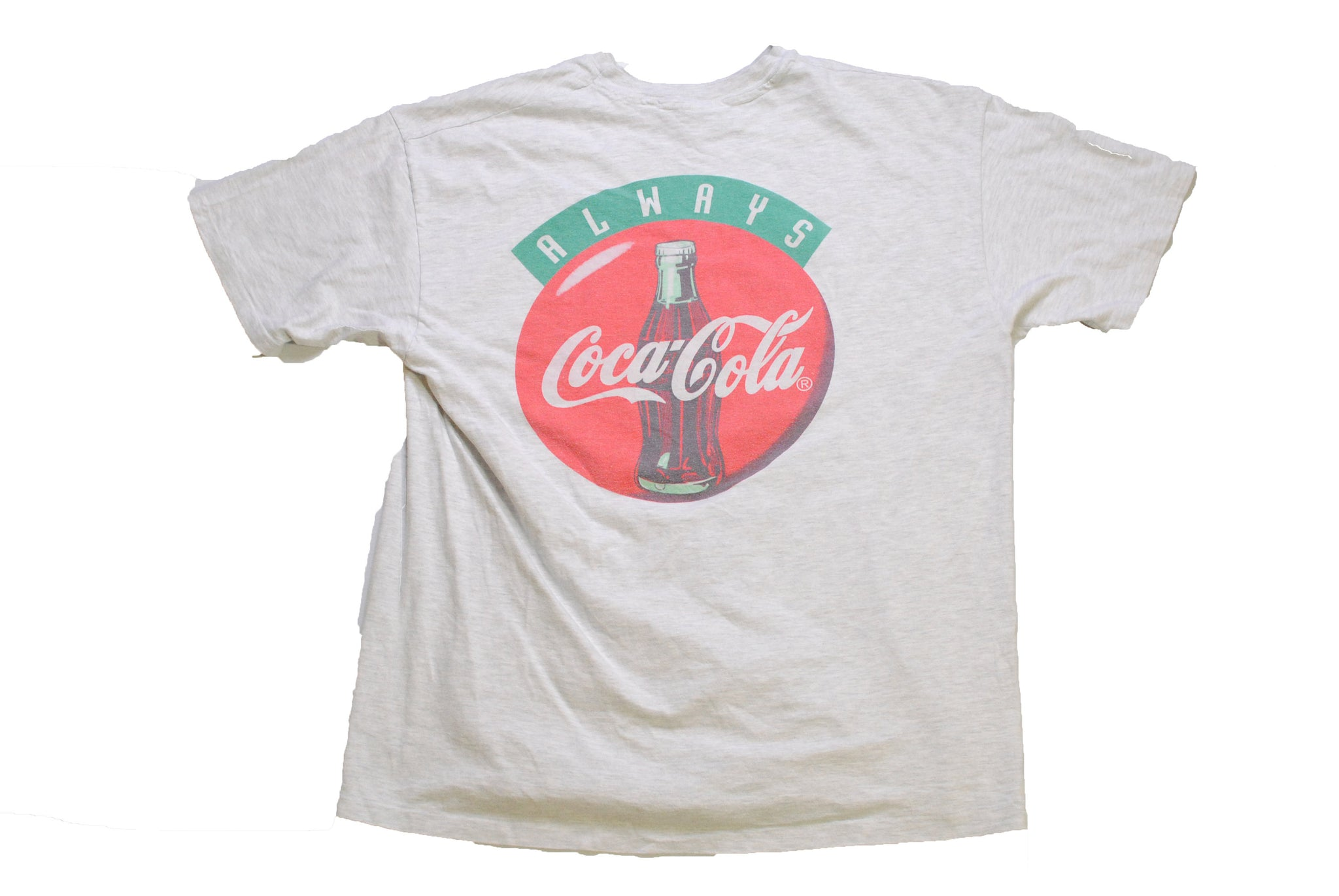 vintage COCA-COLA Europa Park authentic t-shirt Size XL collection retro sport gray big logo coca cola bottle always t shirt tee top 90s 80s