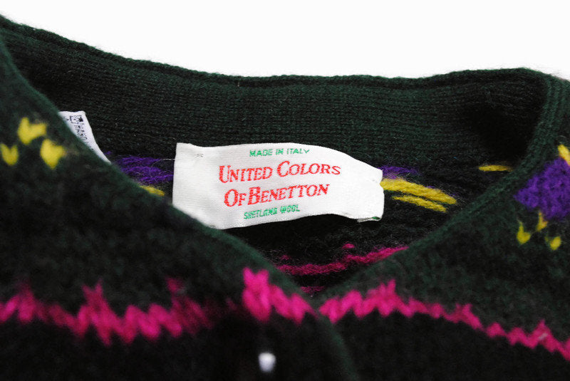 Vintage United Colors Of Benetton Cardigan Sweater XSmall / Small
