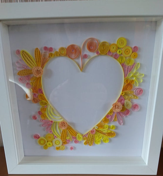 Quilled Heart - Framed