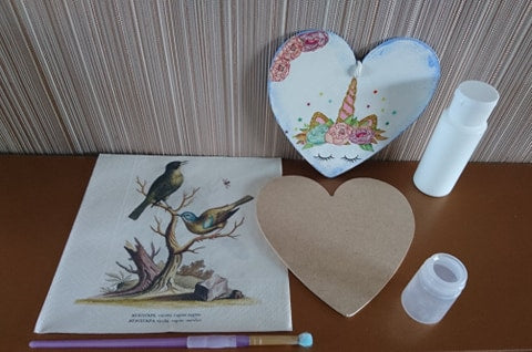 Decoupage Heart Kit