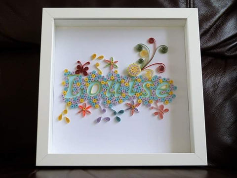 Quilled Name - Framed