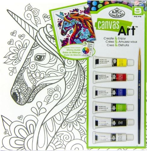 Canvas Art Kit - With Acrylic Paint