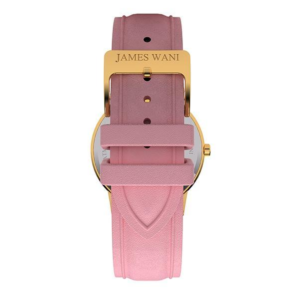 Milos Leather Strap (Gold) (4455289880635)