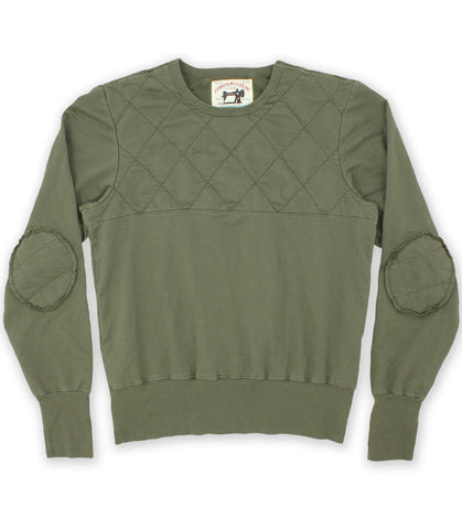 Olive Drab Quilted Sweatshirt