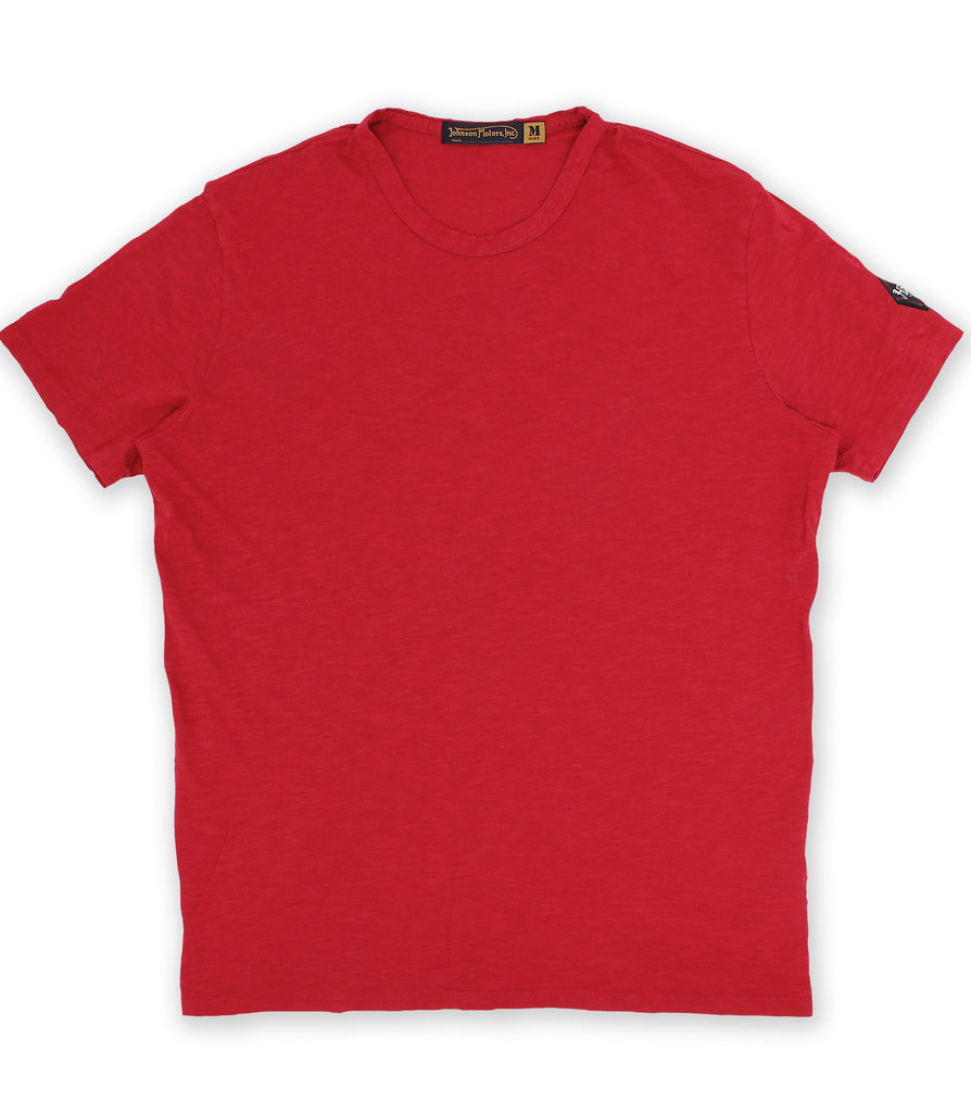 Cherry Red Crew Neck Tee