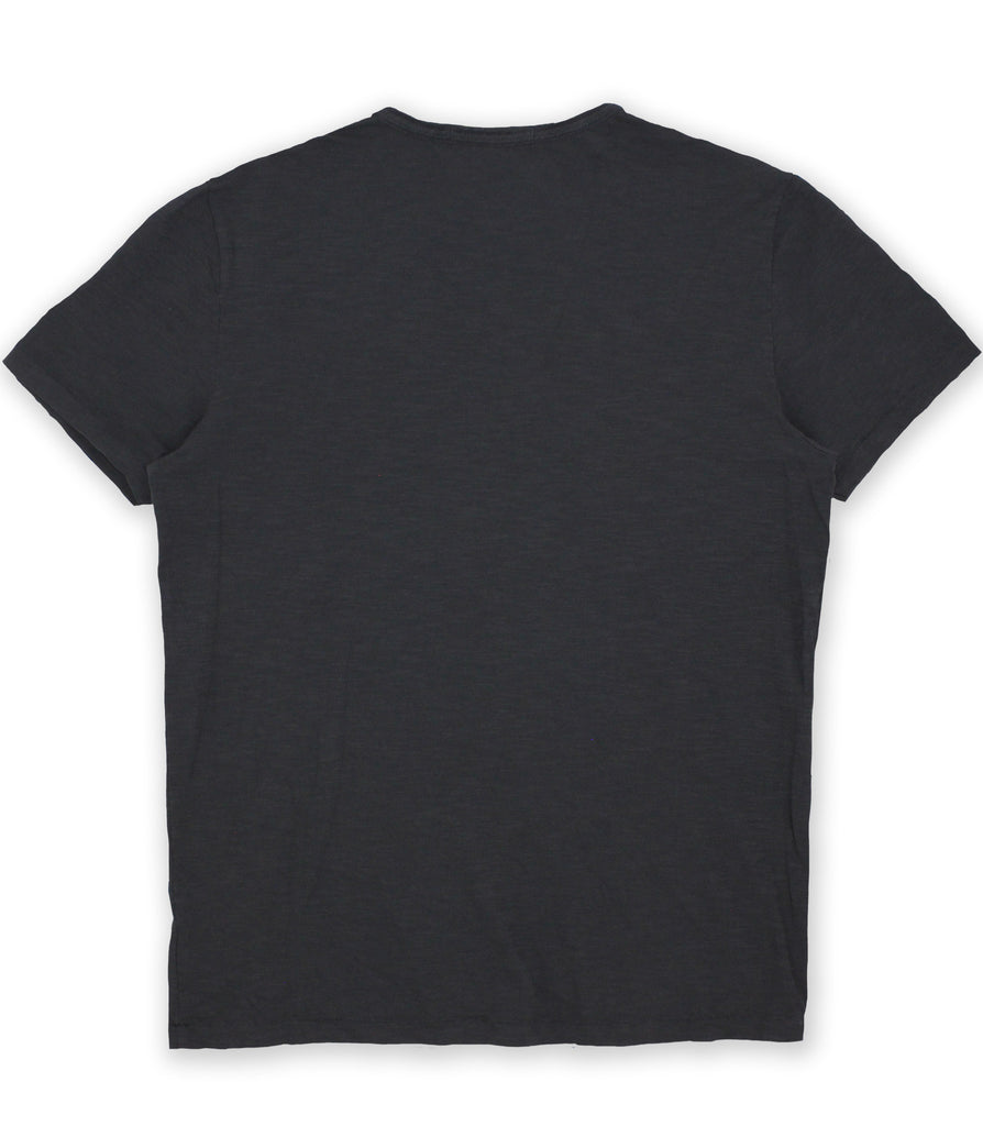 Oiled Black Crew Neck Tee