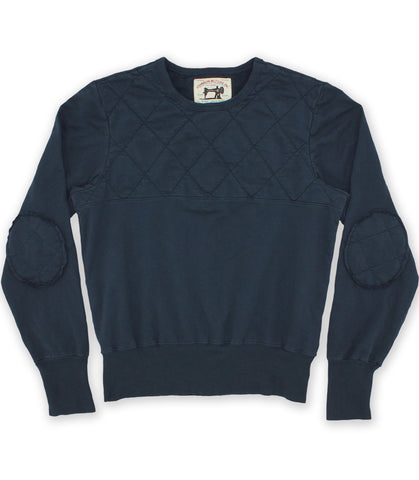 Dead Navy Quilted Sweatshirt