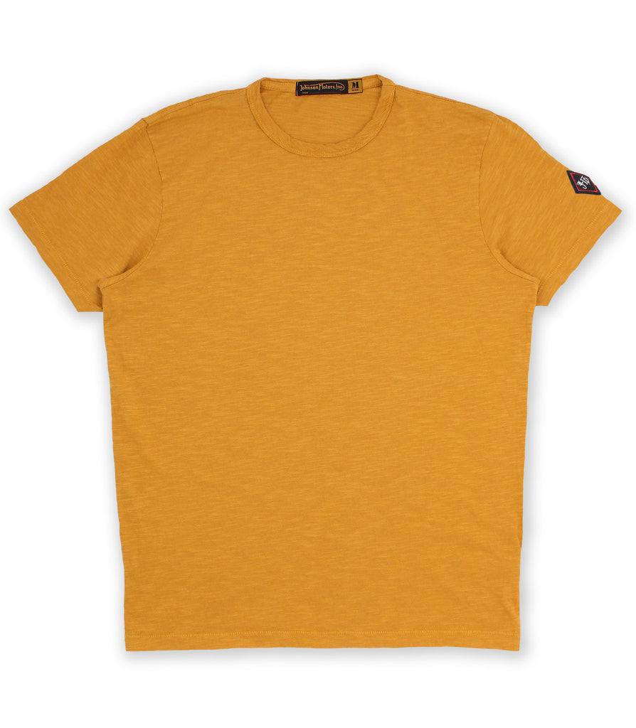 Sand Yellow Crew Neck Tee