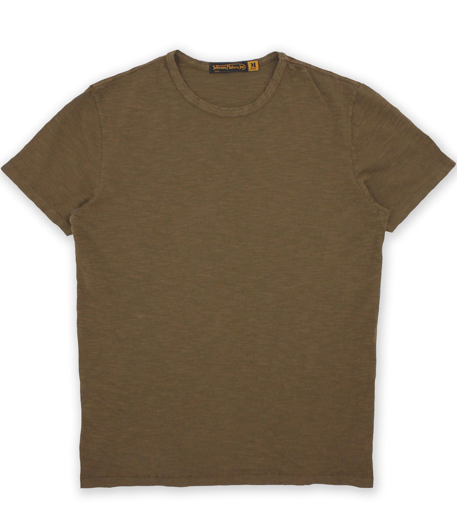 Trench Green Crew Neck Tee