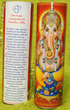 Ganesha Mantra Meditation Candle embellished with Swarovski Crystals