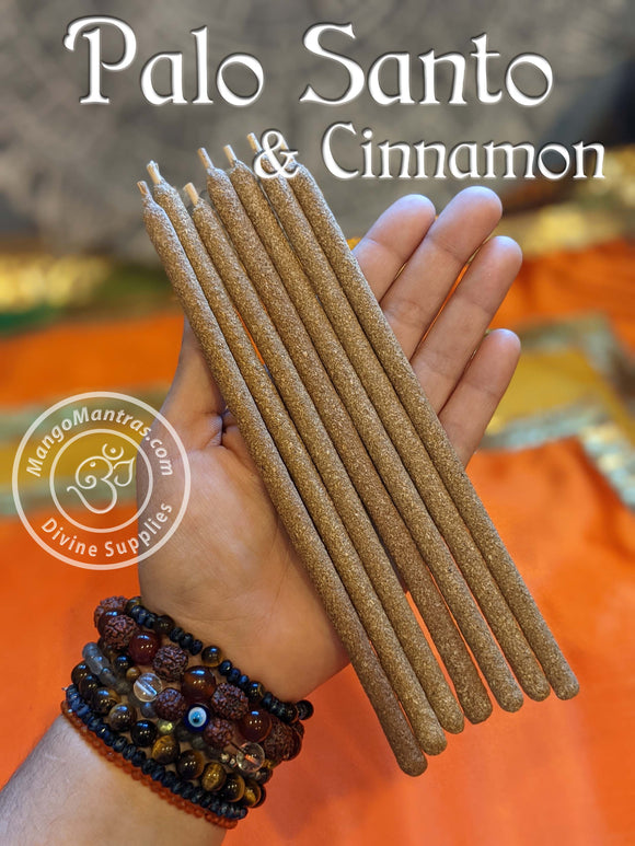 100% Pure Sacred Palo Santo & Cinnamon Incense Sticks to Purify, Protect and Bless!