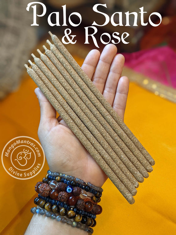 100% Pure Sacred Palo Santo & Rose Incense Sticks for Cleansing and Purifying!