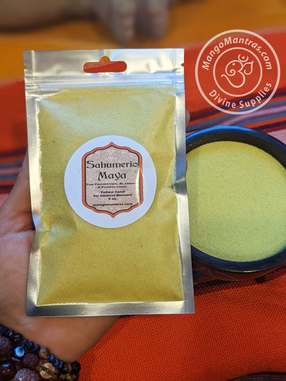 Yellow Sand - Incense Sand, Burning Resins, Smudge Herbs, Charcoal Tablet Sand, Incense Burning Sand, Ritual Sand for Incense Burner