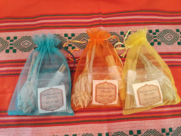 Triple Power Smudge Kit! Copal, Palo Santo & White Sage for Protection, Cleansing, and Purification