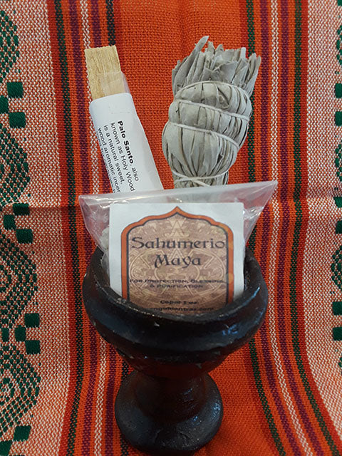 🧿Triple Power Smudge Kit! Copal, Palo Santo & White Sage for Protection, Cleansing, and Purification!