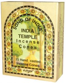 Song of India Sandalwood Incense Cones (25)