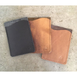 Business Card Holder in black and brown