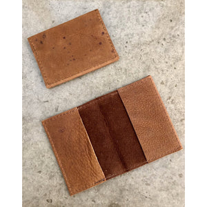 Leather Slimfold Wallet in suede brown