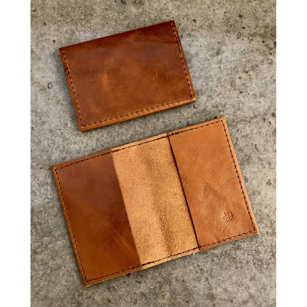 Leather Slimfold Wallet in brown