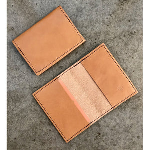 Leather Slimfold Wallet in light tan