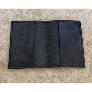 Leather Slimfold Wallet in black