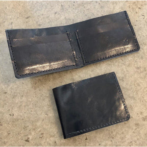 Black Classic Leather Billfold