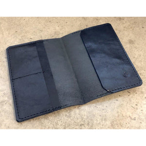 Leather Passport Wallet in all black