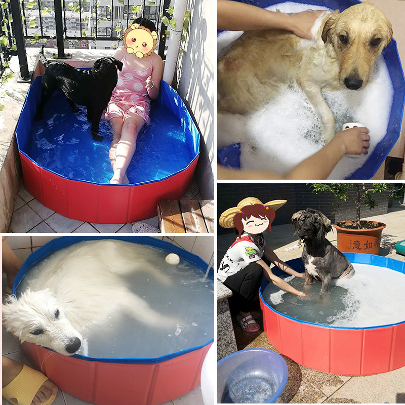 Foldable Pet Bath Pool for Dogs Cats