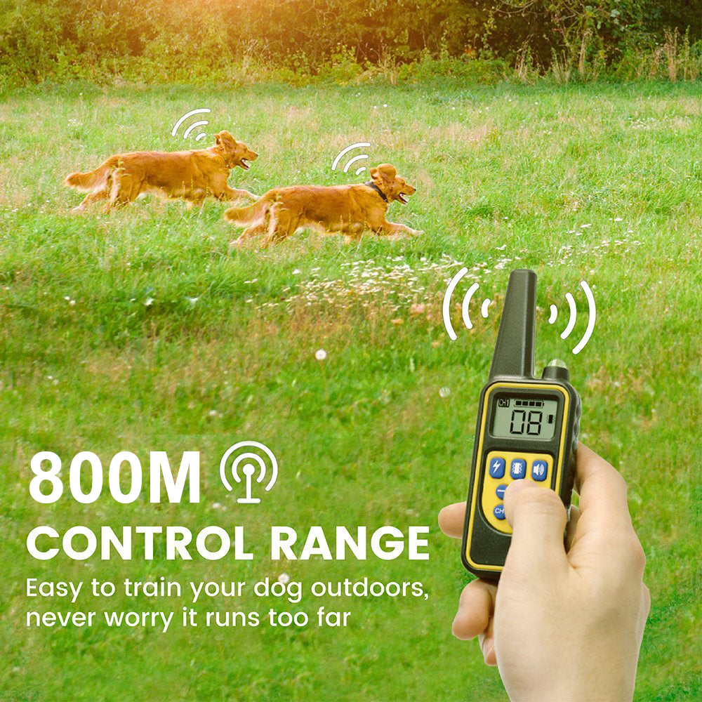 Dog training collar with 800m remote control