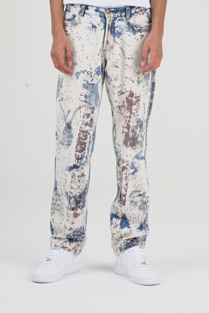 2000 Just Cavalli Paint Splatted Print Jeans