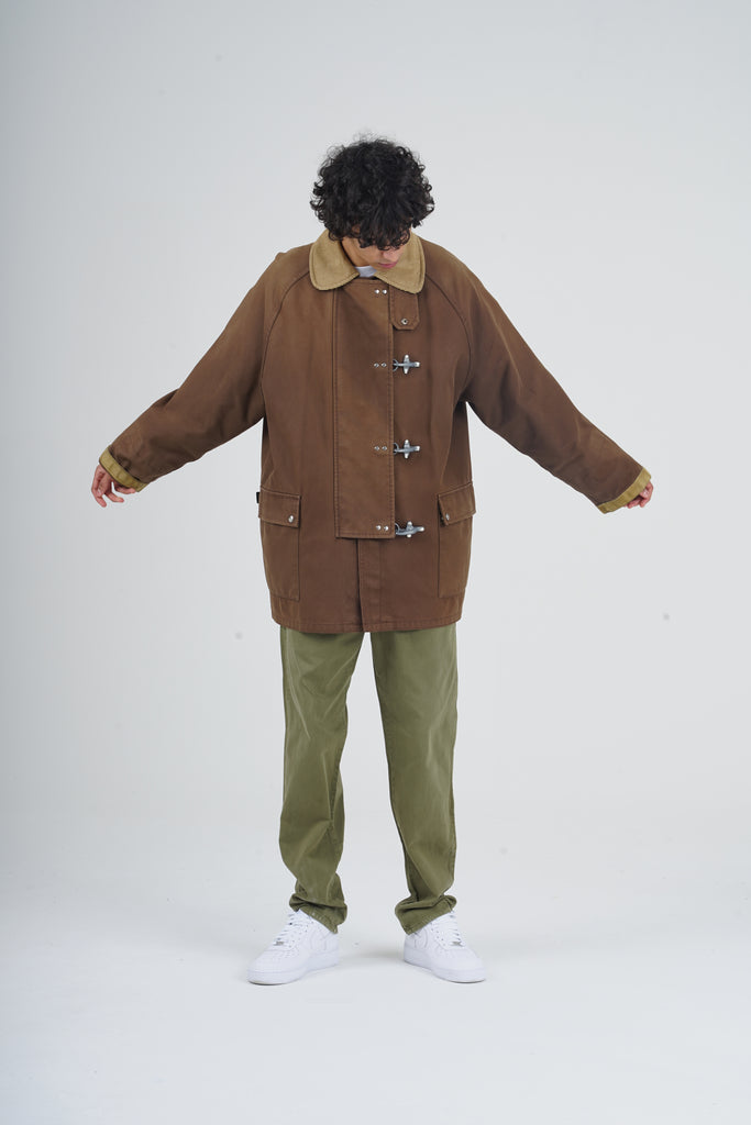 Vintage 90's Fay Ganci Brown Wool Lined Parka Coat