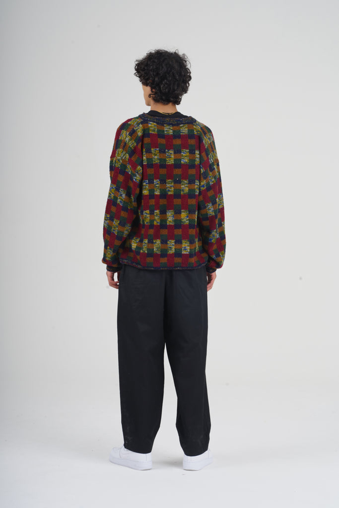 Vintage 80's Missoni V Neck Wool Jumper