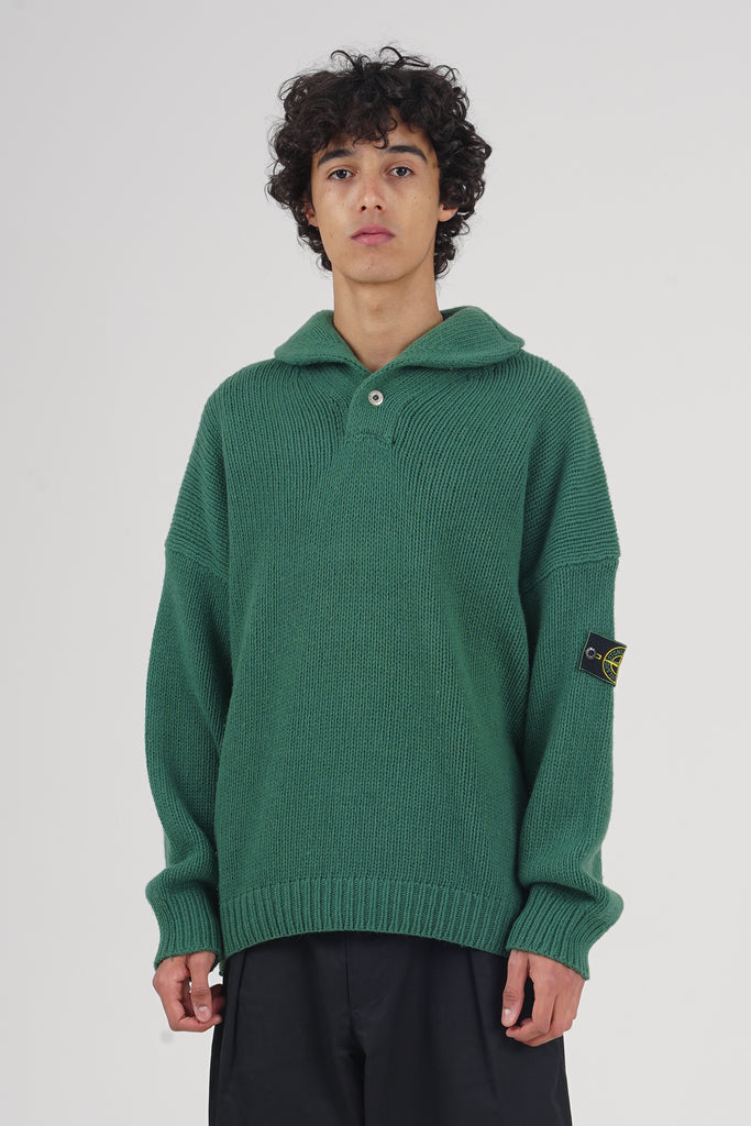 Vintage 80's Stone Island Apple Green Wool Jumper