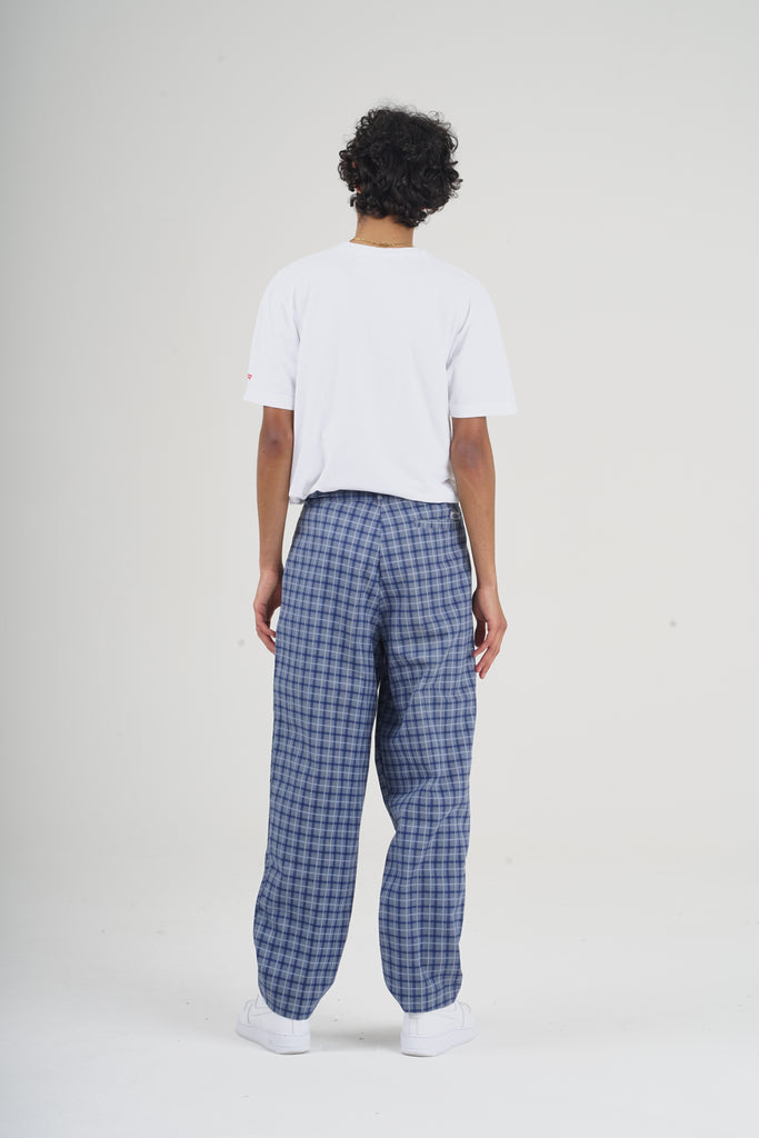 Vintage 90's Blue Checkered Trousers