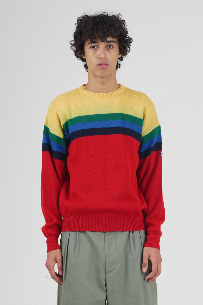 Vintage 80's Champion Multicolor Wool Jumper