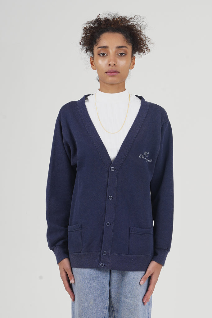 Vintage _80's Champion Navy Cardigan