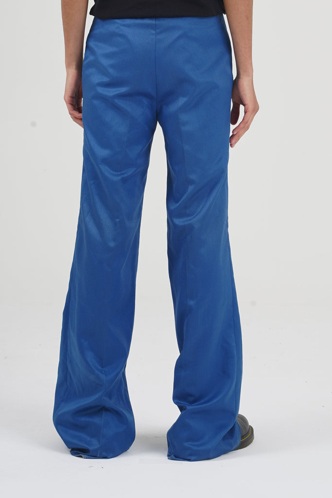 Vintage 70's Blue Azure High Waisted Flare Trousers