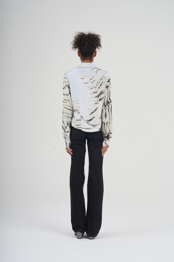 2000 Just Cavalli Zebra Print Silk Shirt