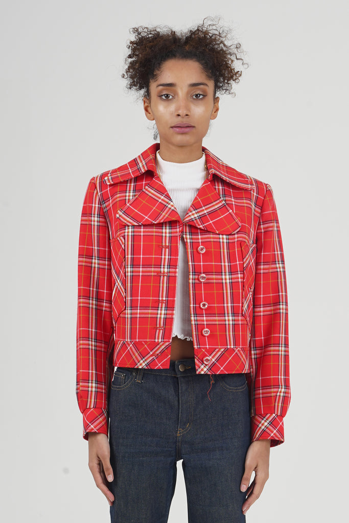 Vintage 70's Red Checkered Jacket