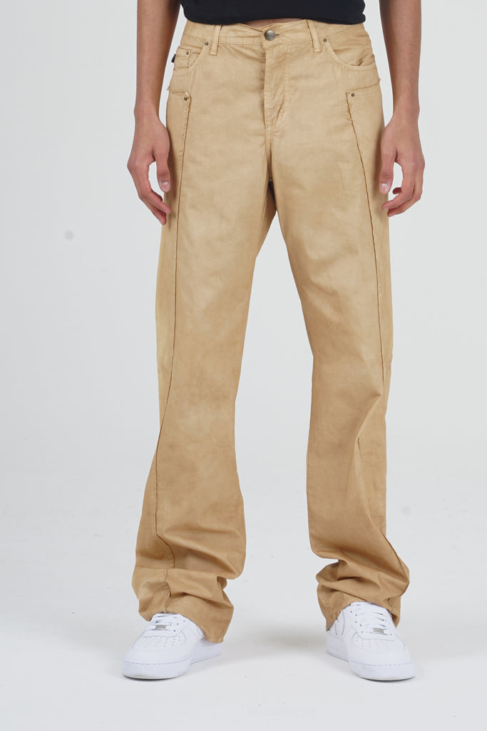 2000 Just Cavalli Beige Straight Leg Jeans