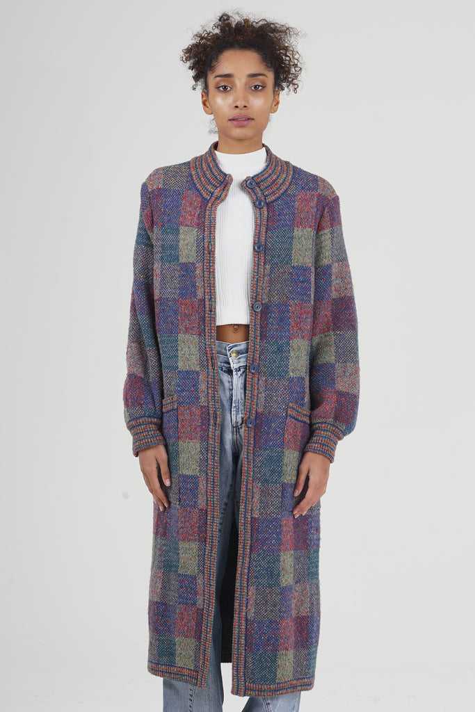 Vintage 90's Missoni Multicolor Wool Longline Cardigan