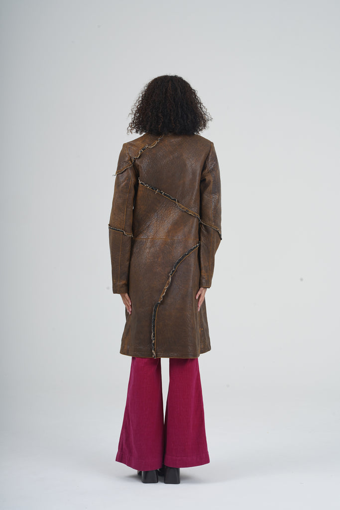 Vintage 2000 Just Cavalli Brown Butter Soft Leather Coat