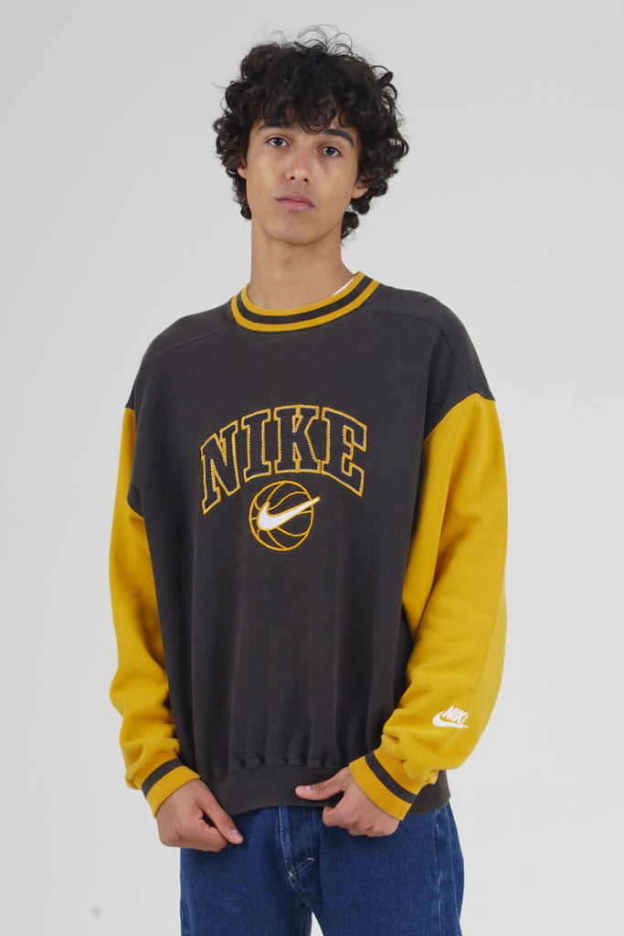 Vintage 90's Nike Yellow Basketball sweater