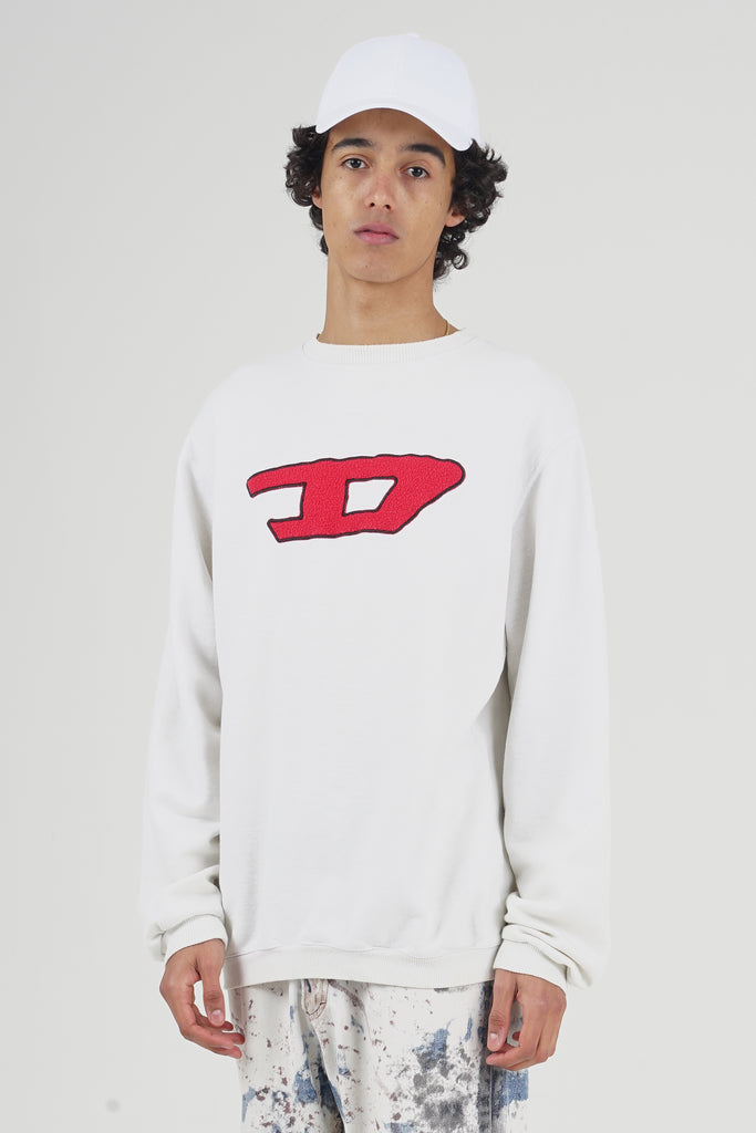 Vintage 90's Diesel Red Front Logo Sweater