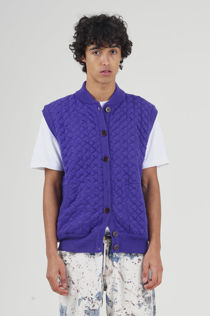 Vintage 80's Missoni Purple Knit Vest