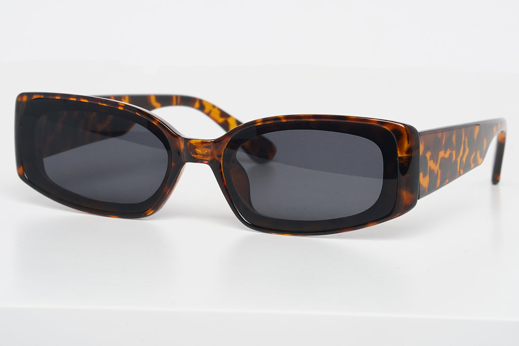 Premium Rectangular Tortoise Sunglasses