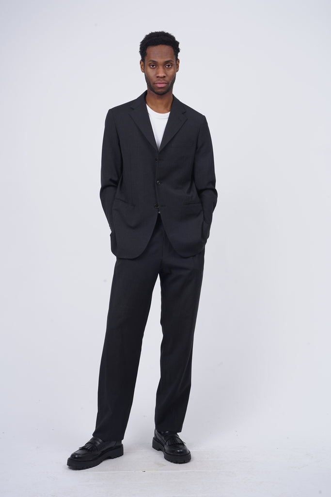 2000 Burberry Grey Wool Suit