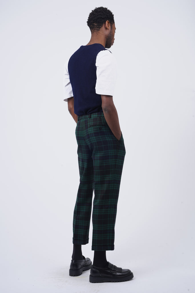 Vintage 90's Navy&Green Checked Trousers