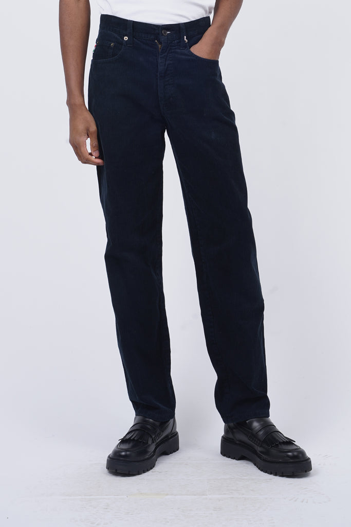 Vintage 90's Moschino Navy Corduroy Trousers