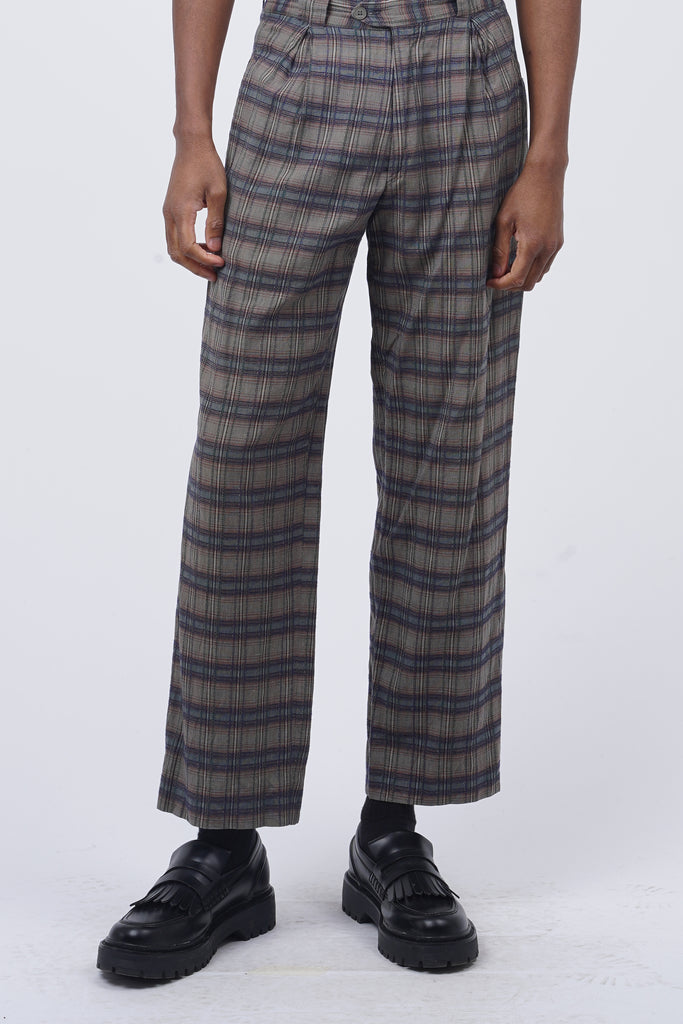 Vintage 90's Missoni Checked Print Trousers